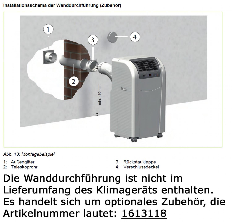 remko variable wanddurchf hrung f r abluftschlauch f r klimager t rkl 290 300 360. Black Bedroom Furniture Sets. Home Design Ideas