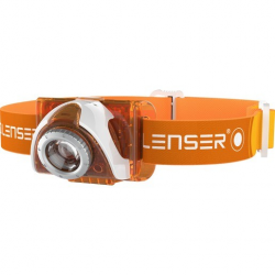 LED Lenser Stirnlampe SEO 3 orange (Geschenkbox)
